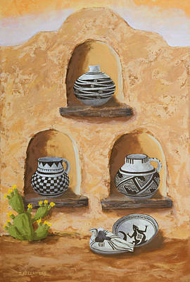 Pottery Painting - Flavor Of The Soutwest Part 3 by Jerry McElroy