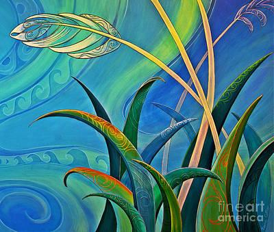 Painting - Flax Harakeke By Reina Cottier by Reina Cottier NZ Artist