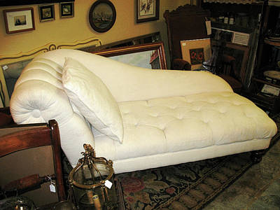 Photograph - Flea Market Chaise by Connie Fox