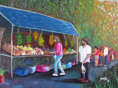 Painting - Flea Market by Gloria E Barreto-Rodriguez