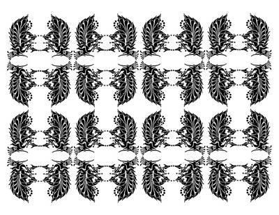 Rorschach Drawing - Flea Market by Thomas Coleman