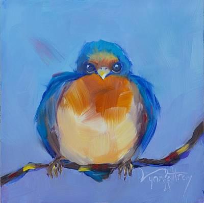Back Yard Painting - Fledgling by Lynn Rattray