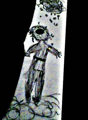 Judaica Drawing - Fleeing Jew by Devorah Fraser