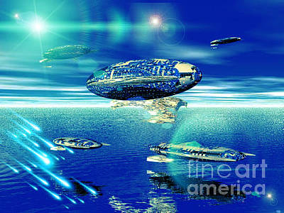 Digital Art - Fleet Aqua by Jacqueline Lloyd