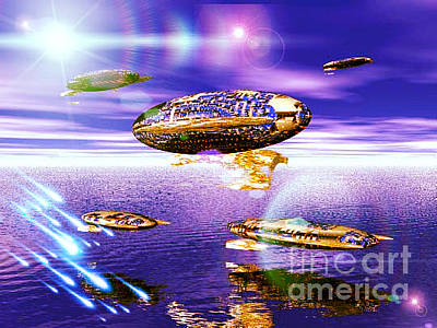 Digital Art - Fleet Dense by Jacqueline Lloyd