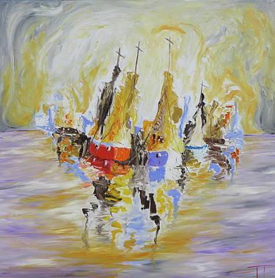 Wall Art - Painting - Fleet by Tessa Lang
