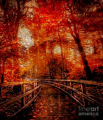 Mixed Media - Fleeting Days Of Fall For The Last Walk by Rod Jellison