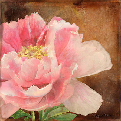Hot Mixed Media - Fleeting Glory - Peony 2 by Audrey Jeanne Roberts
