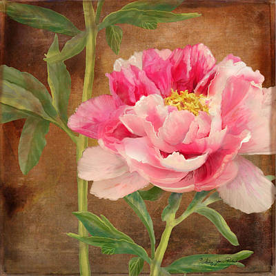 Hot Mixed Media - Fleeting Glory - Peony 3 by Audrey Jeanne Roberts