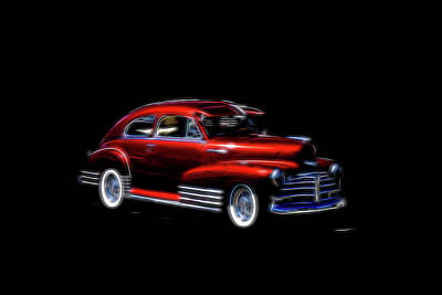 Photograph - Fleetline Chevrolet Red  by Cathy Anderson