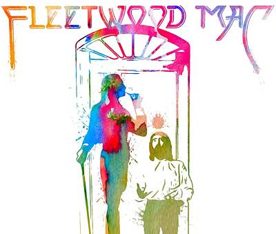 Musicians Digital Art Rights Managed Images - Fleetwood Mac Album Cover Watercolor Royalty-Free Image by Dan Sproul