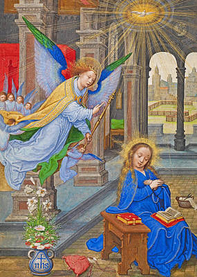 Photograph - Flemish Annunciation by Munir Alawi