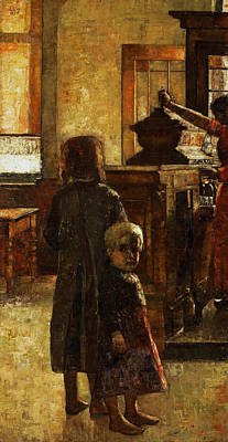 Jewish Painter Painting - Flemish Tavern by Lesser Ury