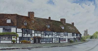 Flemish Weavers Cottages England Art Print by Debbie Homewood