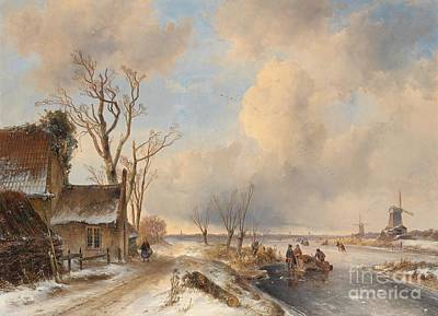 Painting - Flemish Winter Landscape by Celestial Images