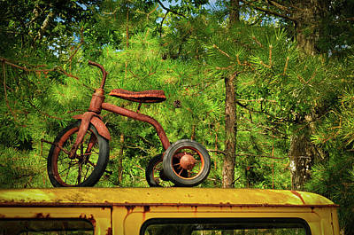Photograph - Flemmings Tricycle by Louis Dallara