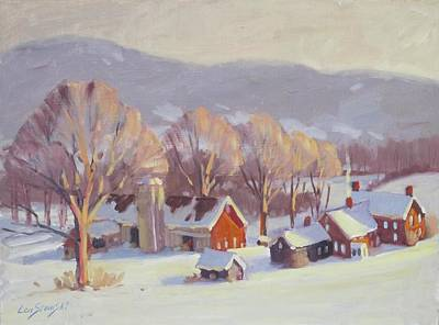 Berkshire Hills Painting - Fletcher Farm 2 by Len Stomski