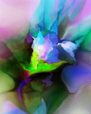 Digital Art - Fleur-de-abstraction by David Lane