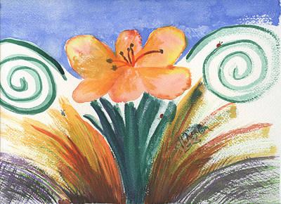 Painting - Fleur De Calendar by Victor Vosen