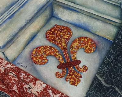 Painting - Fleur De Lis At Eglis Du Dome by Barb Toland