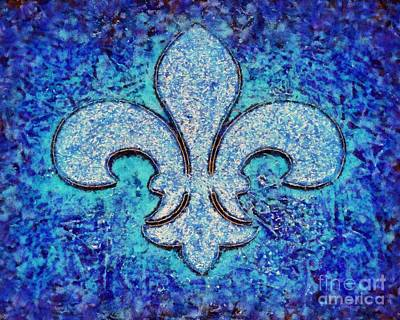 Photograph - Fleur De Lis Blue Ice by Janine Riley