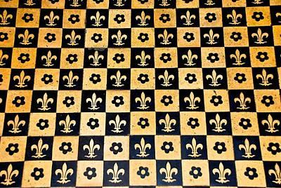 Fleur De Lis Floor Art Print by Eric Tressler