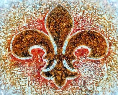 Photograph - Fleur De Lis Gold Dust by Janine Riley