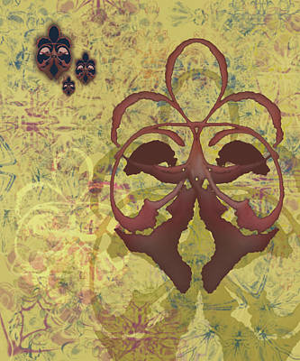 Mixed Media - Fleur De Lis by Kristin Doner