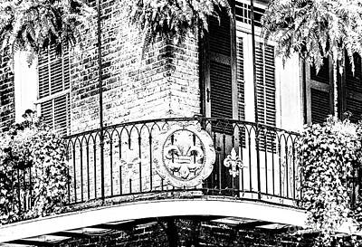 Photograph - Fleur De Lis On The Corner Balcony by FrancesAnn Hattier