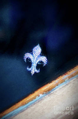 Photograph - Fleur De Lis Pin In Window - Painted by Kathleen K Parker