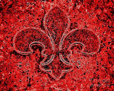 Photograph - Fleur De Lis Red Ice by Janine Riley
