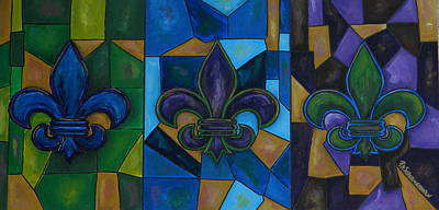 Painting - Fleur De Lis Trinity by Patti Schermerhorn