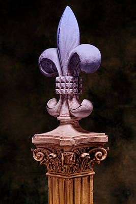 Plaque Photograph - Fleur De Lis V by Tom Mc Nemar