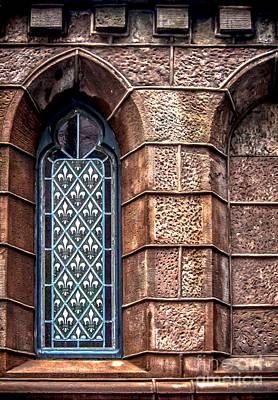 Gunmetal Photograph - Fleur De Lis Window by James Aiken