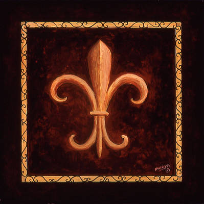 Logos Painting - Fleur De Lys-king Louis Vii by Marilyn Dunlap