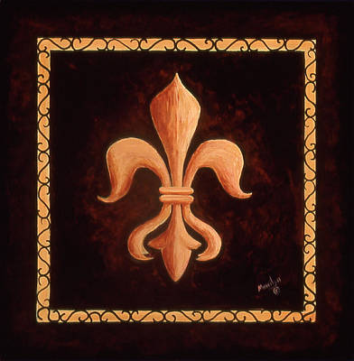 Logos Painting - Fleur De Lys-king Louis Xv by Marilyn Dunlap