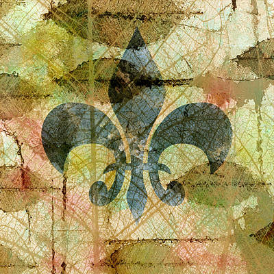 Symbolism Mixed Media - Fleur De Lys Nature by Georgiana Romanovna