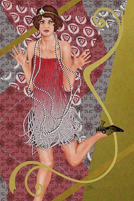 Fleur De Rouge Art Print by Troy Brown