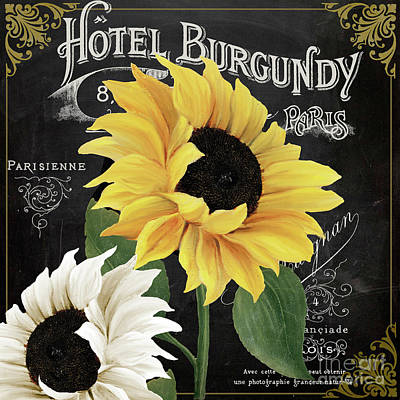 Sunflower Seeds Painting - Fleur Du Jour Sunflowers by Mindy Sommers