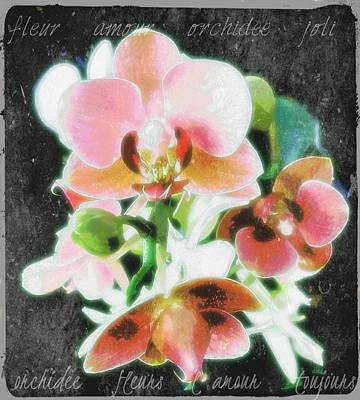 Fleur L'amour French Script Original by ARTography by Pamela Smale Williams