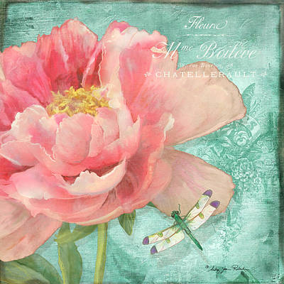 Painting - Fleura - Peony Garden by Audrey Jeanne Roberts