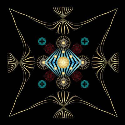 Print featuring the digital art Fleuron Composition No. 3 by Alan Bennington