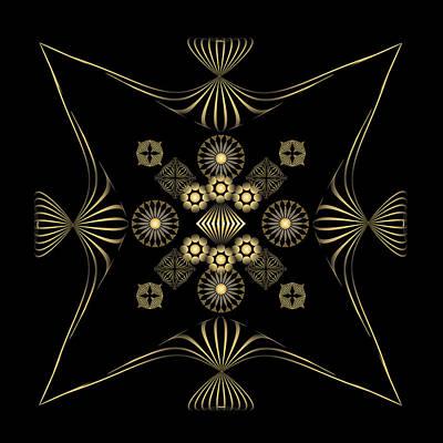 Print featuring the digital art Fleuron Composition No. 4 by Alan Bennington