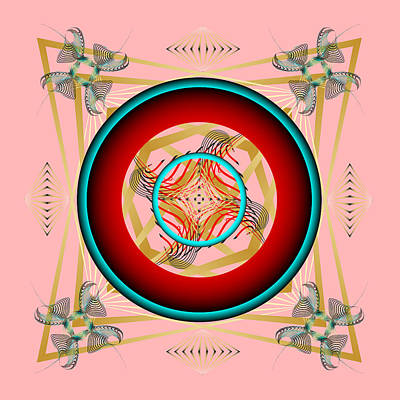 Print featuring the digital art Fleuron Composition No. 67 by Alan Bennington