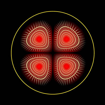 Digital Art - Fleuron Composition No.108 by Alan Bennington