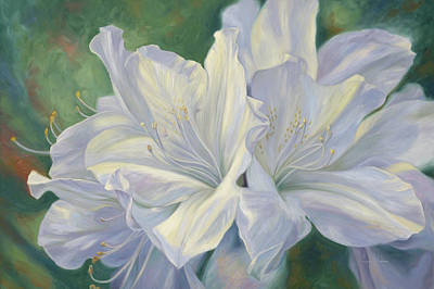 Painting - Fleurs Blanches by Lucie Bilodeau