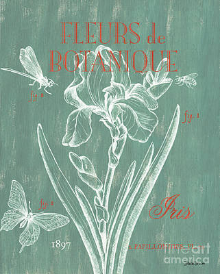 Pen And Ink Drawing Painting - Fleurs De Botanique by Debbie DeWitt