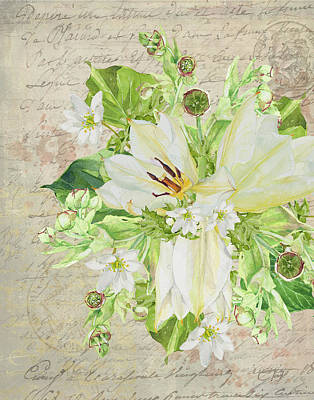 Mixed Media - Fleurs De Printemps by Colleen Taylor