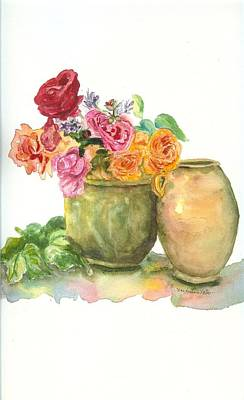 Crepe Paper Painting - Fleurs by Mary Dunham Walters