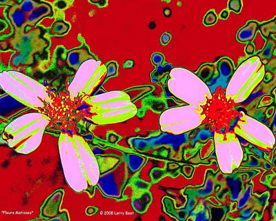 Digital Art - Fleurs Matisses by Larry Beat